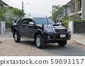 black pickup vehicle car 59693157