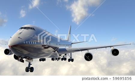 비행중인 비행기 59695856