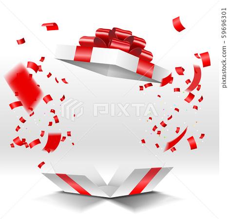 선물 상자와 색종이 59696301