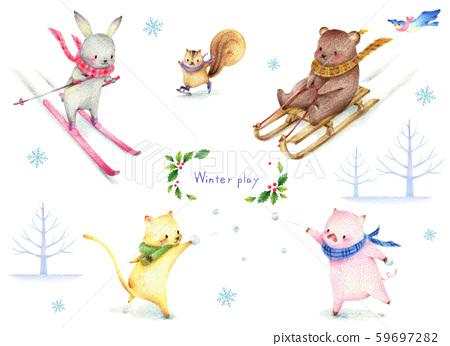 동물의 冬遊び 59697282