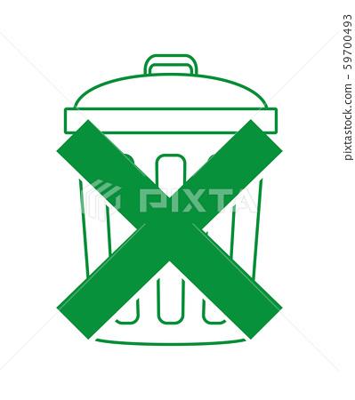 減少垃圾圖標 59700493