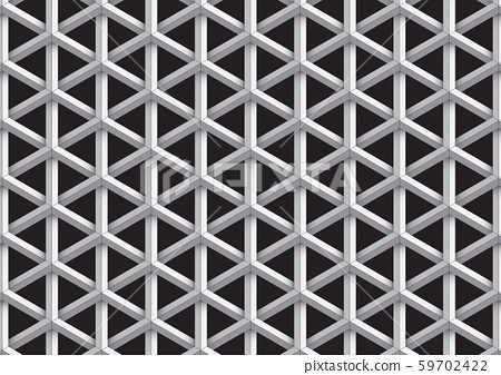 Modern metallic black and white optical illusion 3d geometric pattern abstract background 59702422