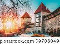 Tallinn, Estonia. Former Prison Tower Neitsitorn In Old Tallinn. Medieval Maiden Tower At Winter 59708049
