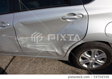 A car in an accident. 59708506