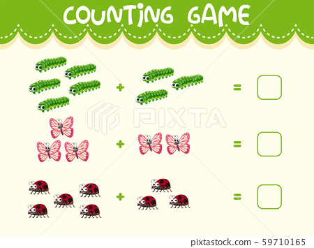 Insect math counting worksheet 59710165