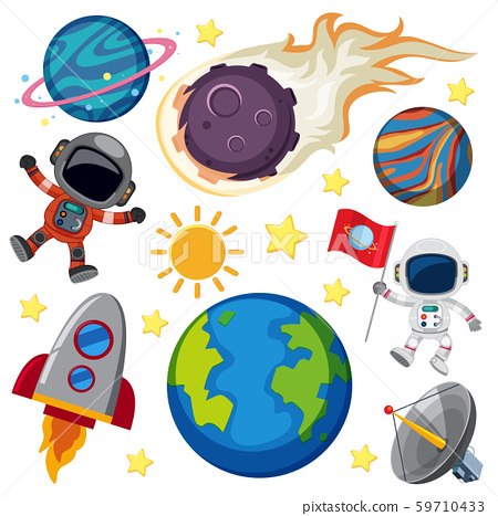 Set of space element 59710433