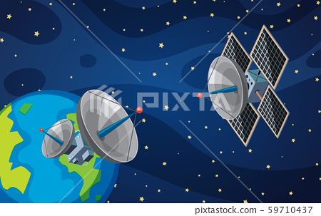 Satellite in the space 59710437