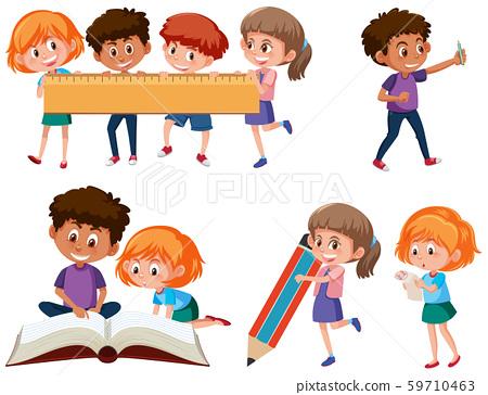 Set of school children 59710463