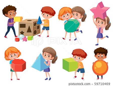 Children with math shape 59710469