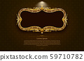 gold frame circle border picture and pattern gold 59710782
