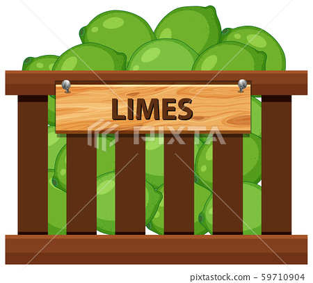 Lime in wooden crate 59710904