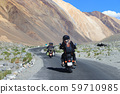 Motorcycle travelers ride in indian Himalaya 59710985
