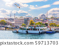 Istanbul sights view: the Eminonu pier, the Rustem 59713703