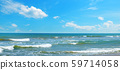 Sea and blue Sky background. Wide photo . 59714058