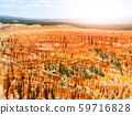 Colorful rock formations in Bryce Canyou, Utah, USA. 59716828