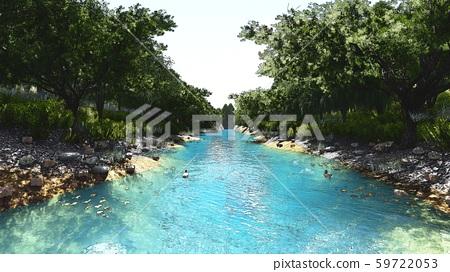 Landscape Painting River Summer Illustration 6 59722053