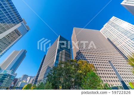 從東京霞關3丁目的窗戶上可以看到日本基金會和摩天大樓(霞關公共門)的景色 59722826