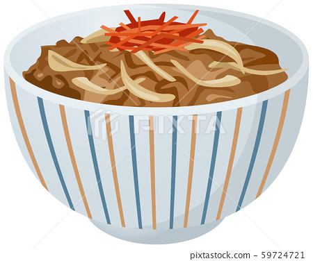 牛肉碗的圖像插圖 59724721