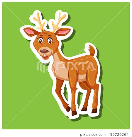 A simple dear sticker 59726264