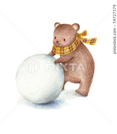 눈사람을 만들 곰 59727379