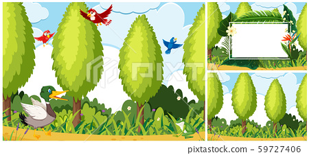Set of nature scene 59727406
