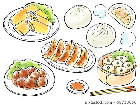 중화 요리 음식 일러스트 59733656