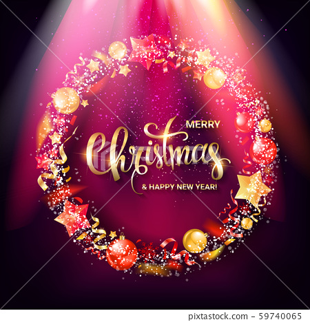 Christmas wreath vector 59740065