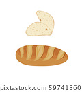 Bread slices and bakery. 59741860