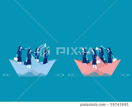 Serious trade tension or trade war. Concept 59743995
