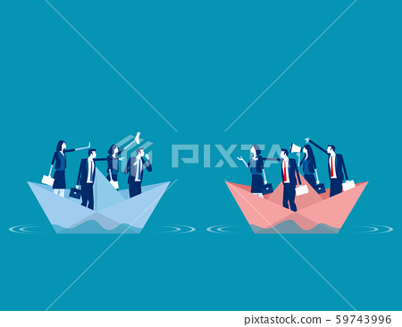 Serious trade tension or trade war. Concept 59743996