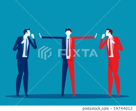 Serious trade tension or trade war. Concept 59744012