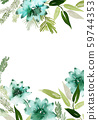 Watercolor card with branches and succulents 59744353