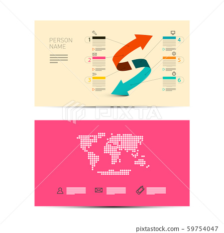 Front and Back Paper Business Invitation Card - Stock Illustration ...