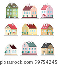 House Icon. Vector Houses Symbols. Building Flat 59754245