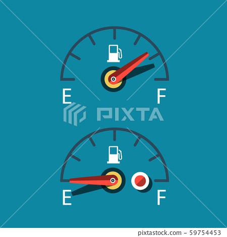 Car Fuel Icon. Vector Dashboard Symbols Set. 59754453