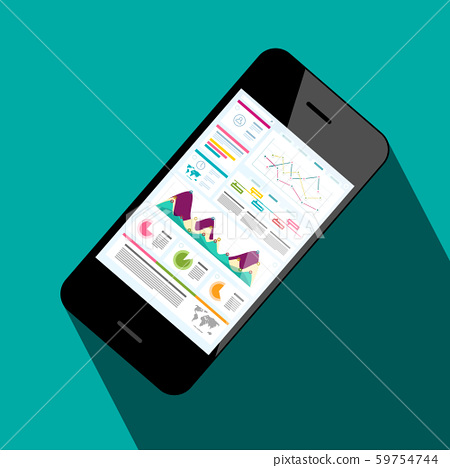 Mobile Phone with Business Application Web Page on 59754744