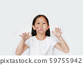 Portrait of little Asian child girl with face make 59755942