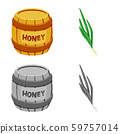 Vector illustration of taste and product icon. Set of taste and cooking stock symbol for web. 59757014