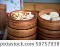 Fresh dim sum in bamboo steamer on Chinese food 59757938