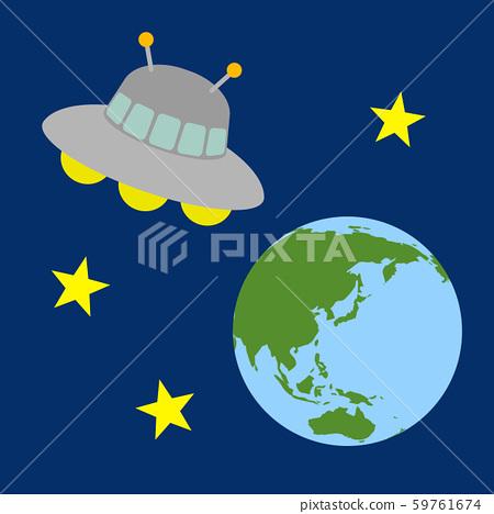 우주선과 지구 59761674