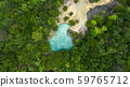 Aerial view emerald pool,  Blue Pool tourist 59765712