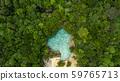 Aerial view emerald pool,  Blue Pool tourist 59765713