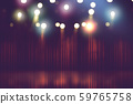 blurred theater stage with red curtains and spotlights 59765758