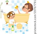 父親和兒子沐浴 59767791