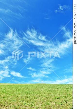 ที่ราบสูงท้องฟ้าสีฟ้าสดชื่น 59768537