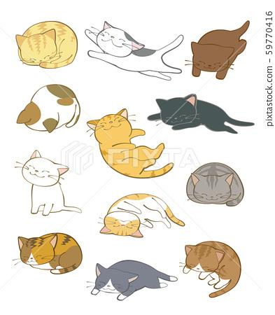 Sleeping cat 59770416
