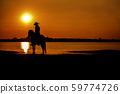 silhouette cowboy on horseback 59774726