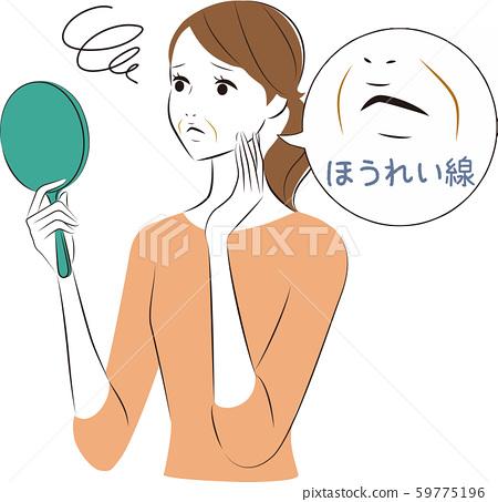 거울을 보는 여자 팔자 59775196
