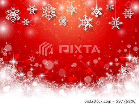 聖誕雪花背景4 59776806