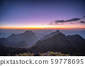 Mountain range with stars in twilight at wildlife 59778695